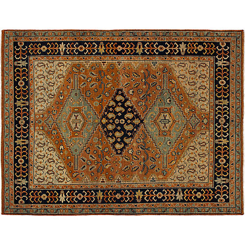 """7'10""""x10'3"""" Beaumont Hand-Knotted Rug, Copper"""