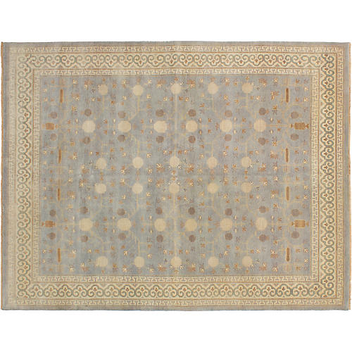 "7'9""x10'1"" Elysee Finest Oushak Rug, Light Gray"
