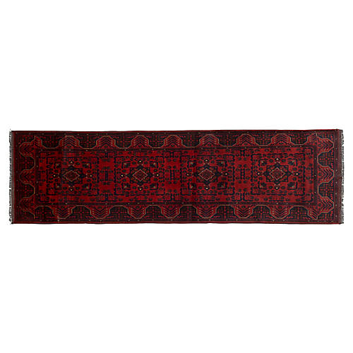 "2'7""x9'6"" Leo Rug, Red"