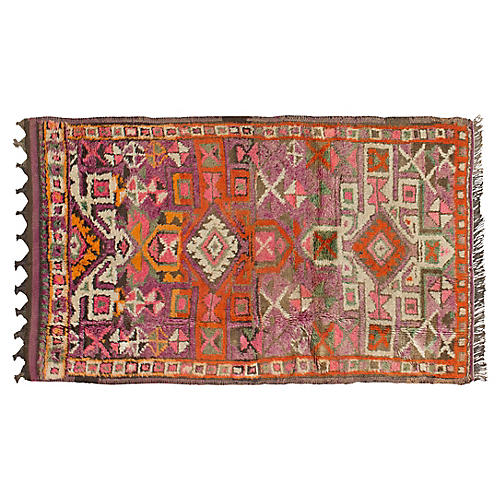 "3'8""x6'2"" James Oushak Rug, Orange"