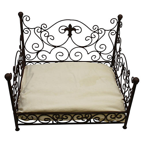 Murray Pet Bed, Antiqued Brown