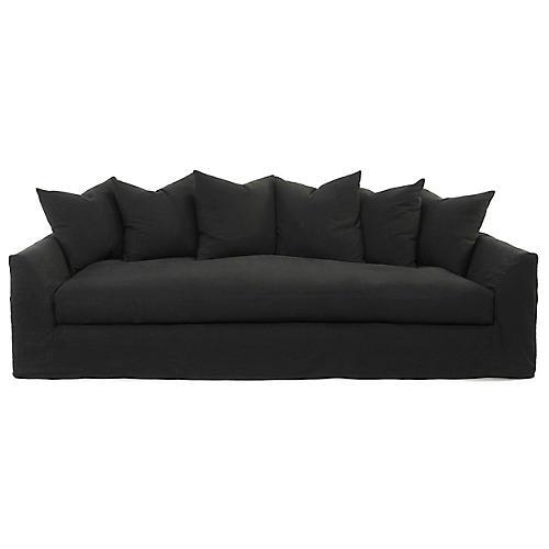 Elara Sofa, Dark Gray Linen