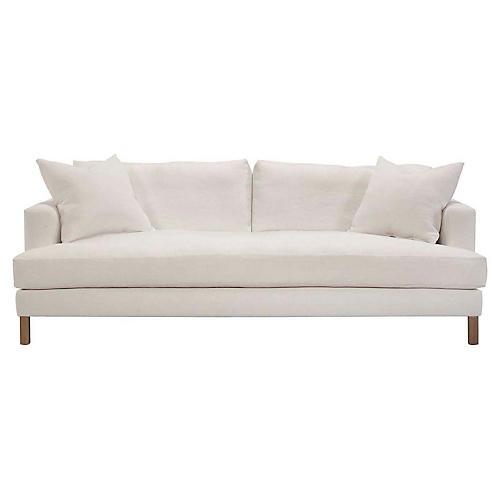 Hudson Sofa, Ivory Linen