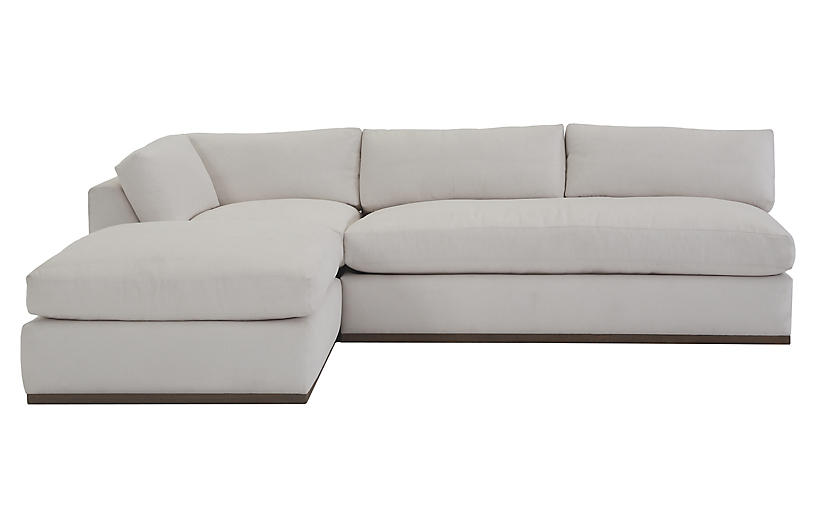 Awesome Pratt 3 Pc Sleeper Sectional White Crypton Andrewgaddart Wooden Chair Designs For Living Room Andrewgaddartcom