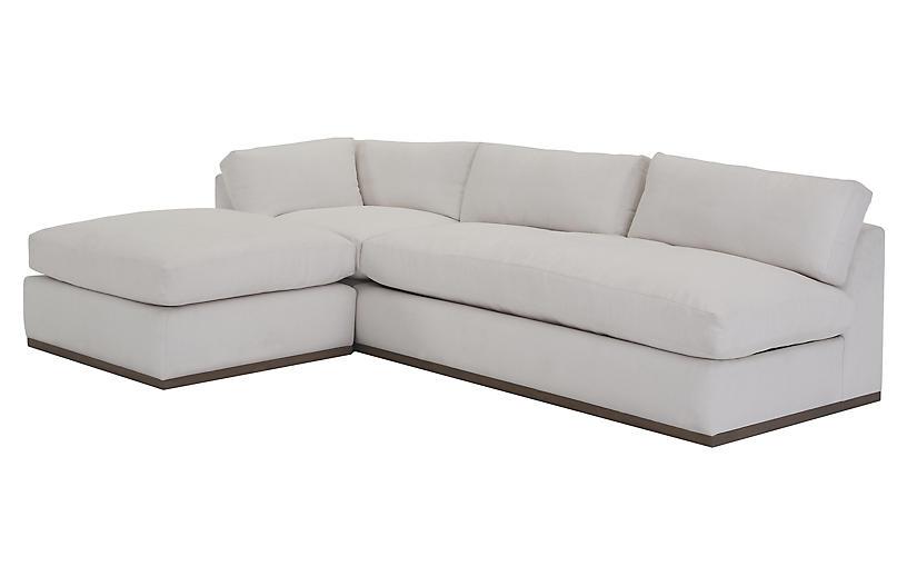 Fabulous Pratt 3 Pc Sleeper Sectional White Crypton Andrewgaddart Wooden Chair Designs For Living Room Andrewgaddartcom
