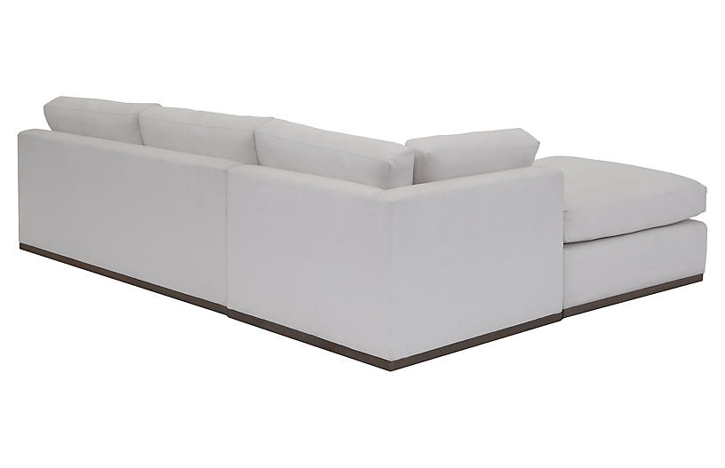 Peachy Pratt 3 Pc Sleeper Sectional White Crypton Andrewgaddart Wooden Chair Designs For Living Room Andrewgaddartcom