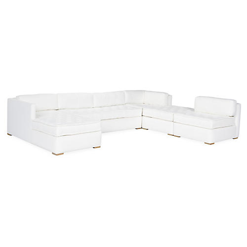 Lane Tufted Modular Sectional, White