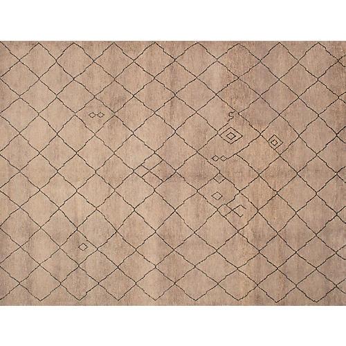 9'x12' Arlequin Rug, Gray