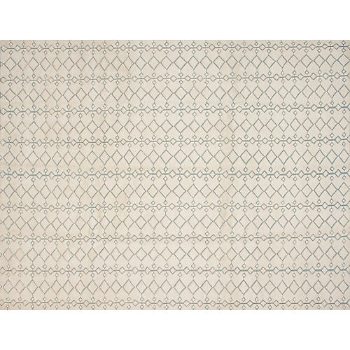 """9'1""""x11'10"""" Mystique Hand-Knotted Rug, Ivory"""