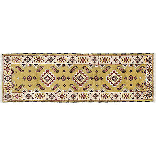 """2'2""""x6'8"""" Royal Kazak Rug, Olive"""