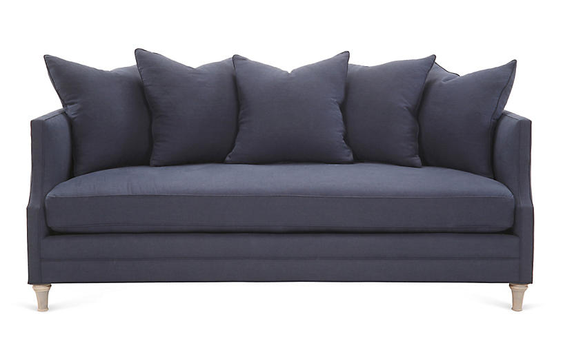 Dumont Sofa, Navy Linen