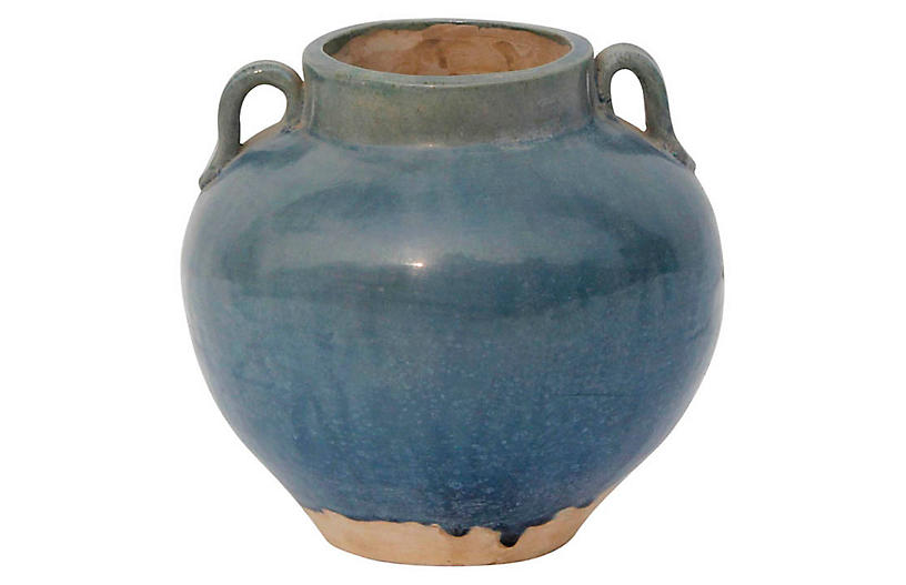 Two Handle Pot, Antique Green