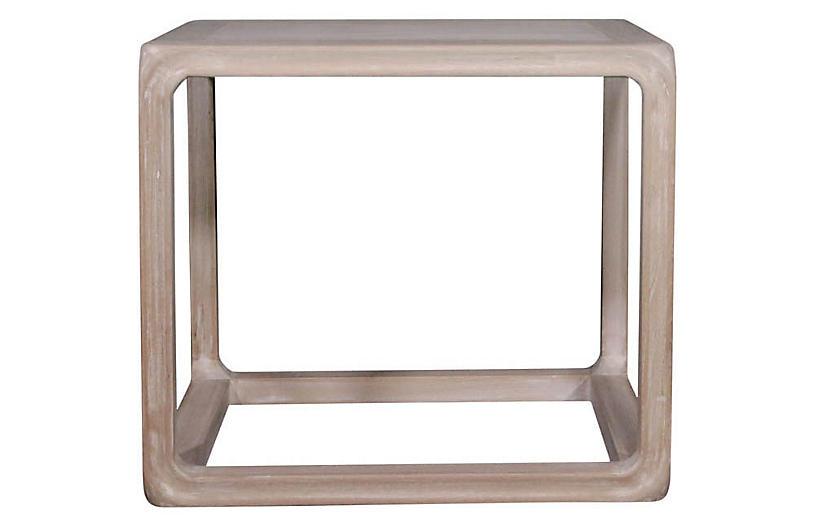 Milo Side Table, Whitewash