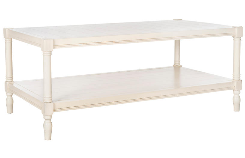 Bennett Coffee Table, White