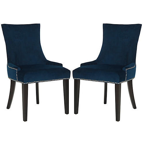 Lydia Side Chairs, Indigo