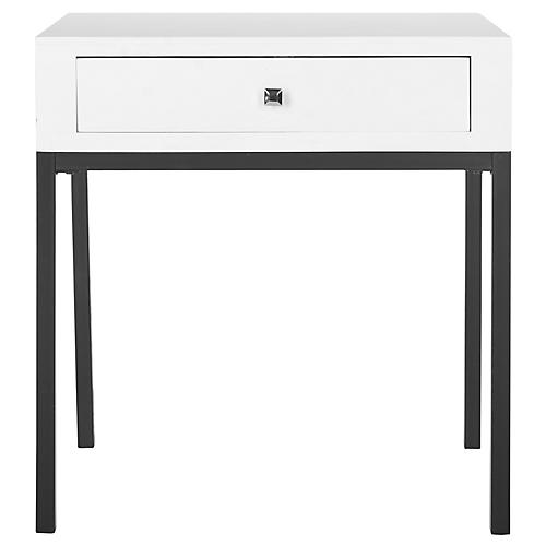 Jenna Nightstand, Black/White