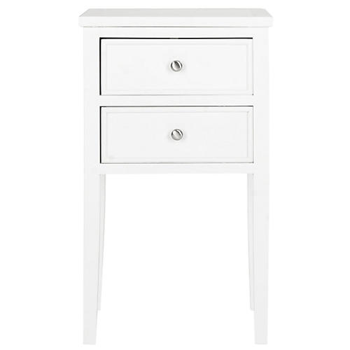 Tilly 2-Drawer Nightstand, White