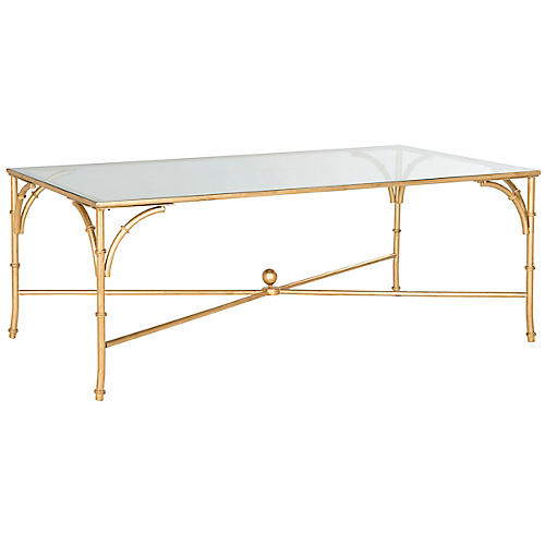 Dru Coffee Table, Gold