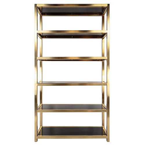 Mireille Bookcase, Gold