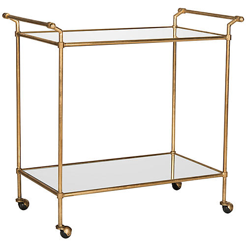Finn Bar Cart, Gold