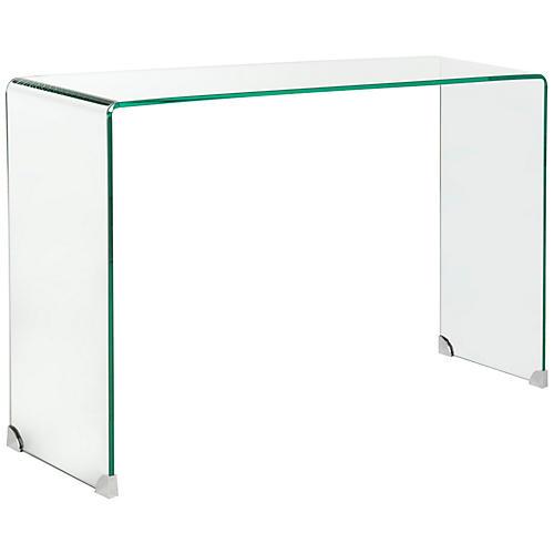 "Amanda 43"" Glass Console, Clear"