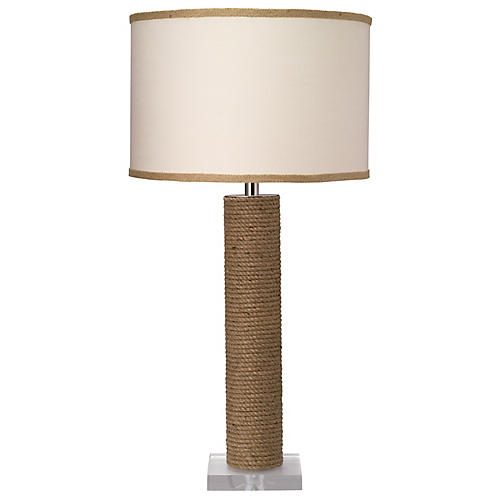 Cylindrical Rope Table Lamp, Natural