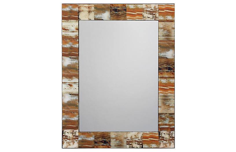 Faux-Horn Wall Mirror, Natural