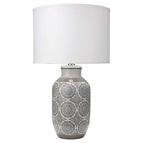 Beatrice Table Lamp, Gray