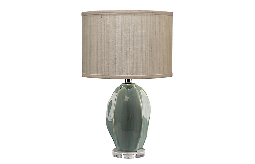 Seeded Vessel Table Lamp Light Green Table Lamps Under