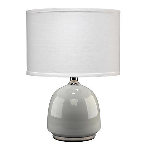 Carlton Table Lamp, Light Gray