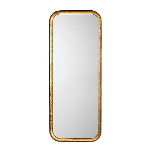 Capital Wall Mirror, Gold Leaf
