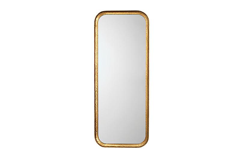 Capital Wall Mirror, Gold Leaf