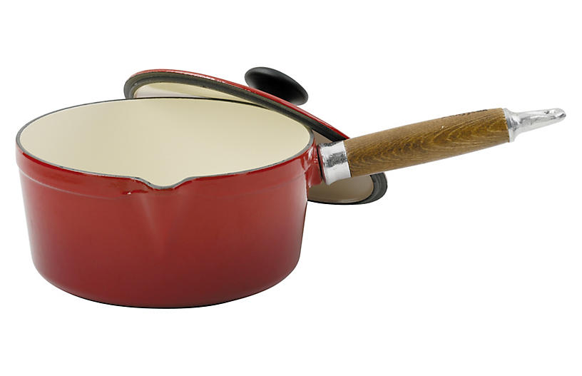 Chasseur Cast Iron Sauce Pan, Red