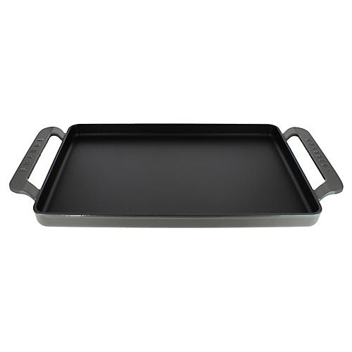 "17"" Chasseur Cast Iron Griddle, Gray"