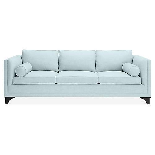Downing Bolster Sofa, Pale Aqua