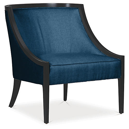 Sinclair Accent Chair, Denim