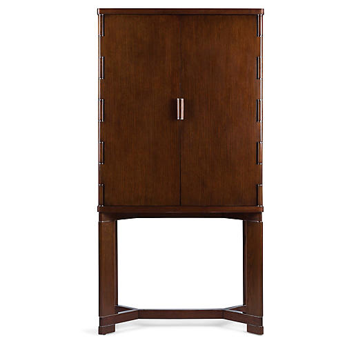 Barnes Bar Cabinet, Estate Oak