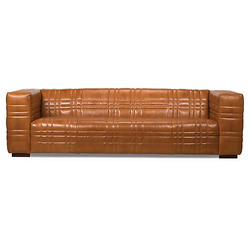Chambers Sofa, Nutmeg Leather