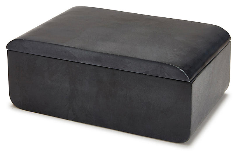 Noir Large Vanity Box, Black