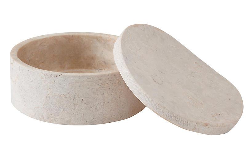 Limestone Cotton Jar