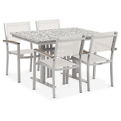 Travira 5-Pc Dining Set, White