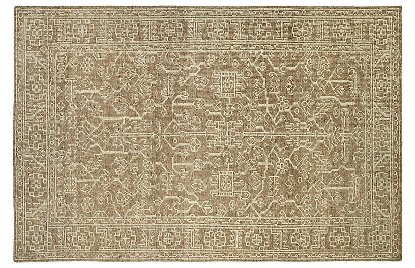Everest Rug, Khaki/Ivory