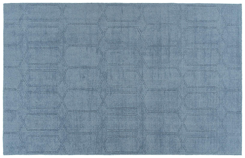 Sia Outdoor Rug, Blue