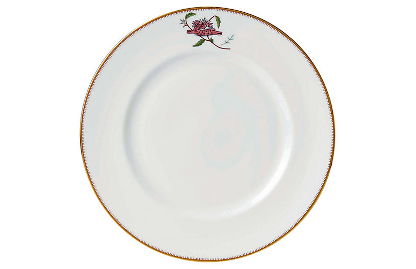 Mythical Creatures Dinner Plate, White/Multi
