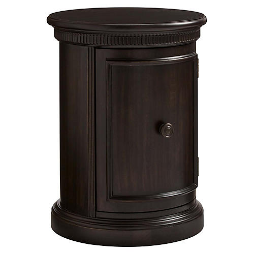 Smiling Hill Curved Nightstand, Java