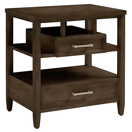 Chelsea Square Open Nightstand, Raisin