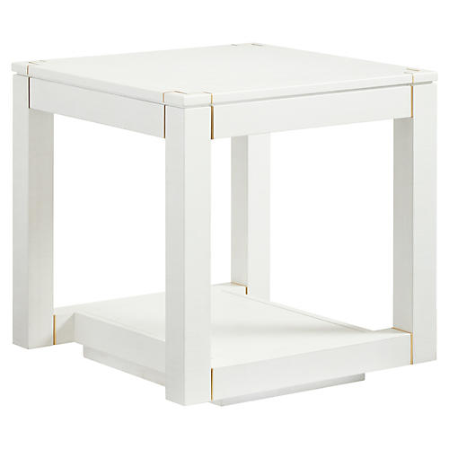 Floating Parsons Side Table, Alabaster
