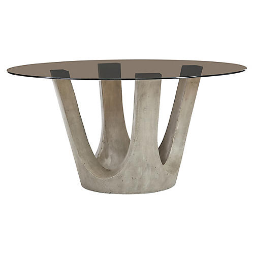 Flying Buttress Dining Table, Quicksilver