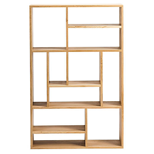 Mondrian Small Bookcase, Oak