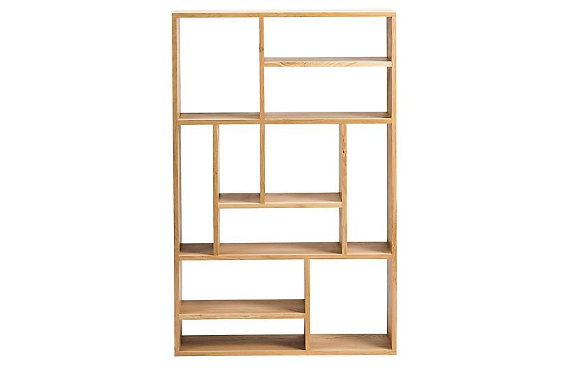 Mondrian Small Bookcase, Oak